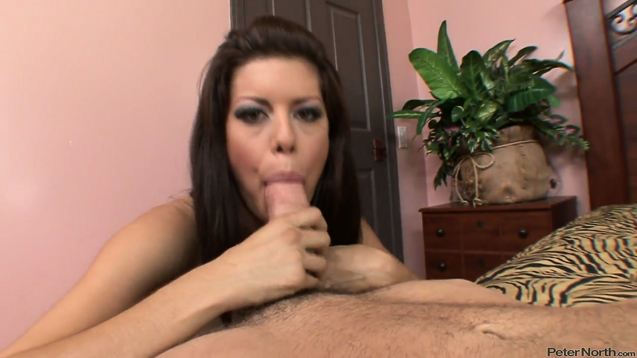 Porn Tube of Hot Brunette Sucking A Huge Cock And Riding It In Reverse Cowgirl Position