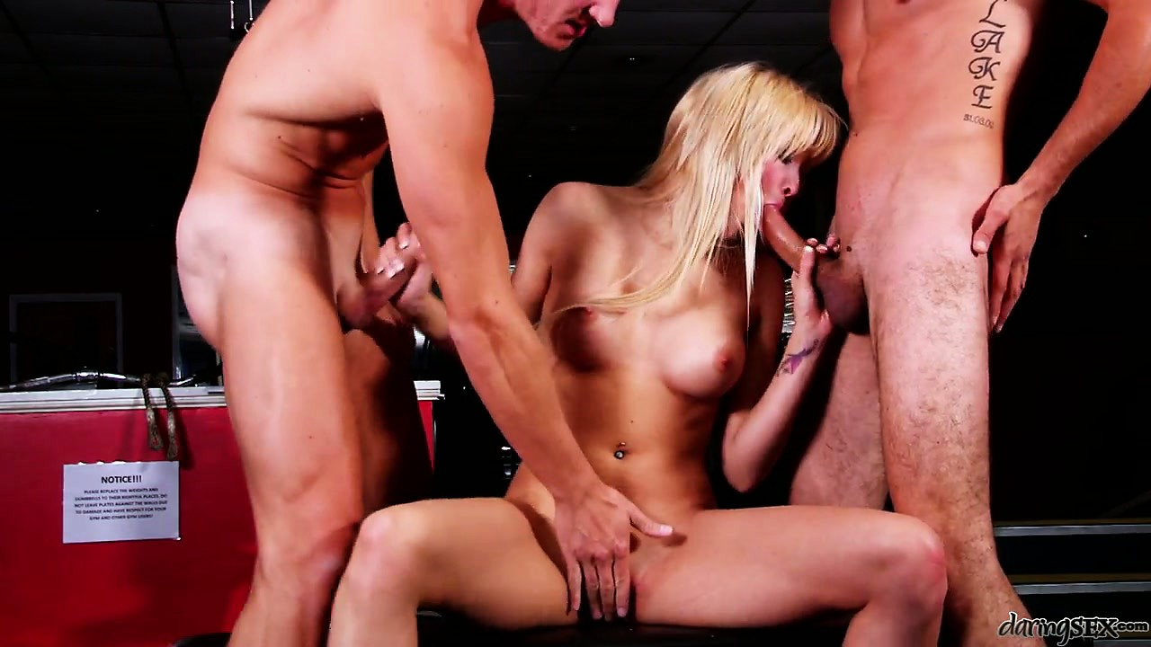 Porno Video of Big Wangs Can't Stop Using This Blonde's Wet Orifices And Mouth