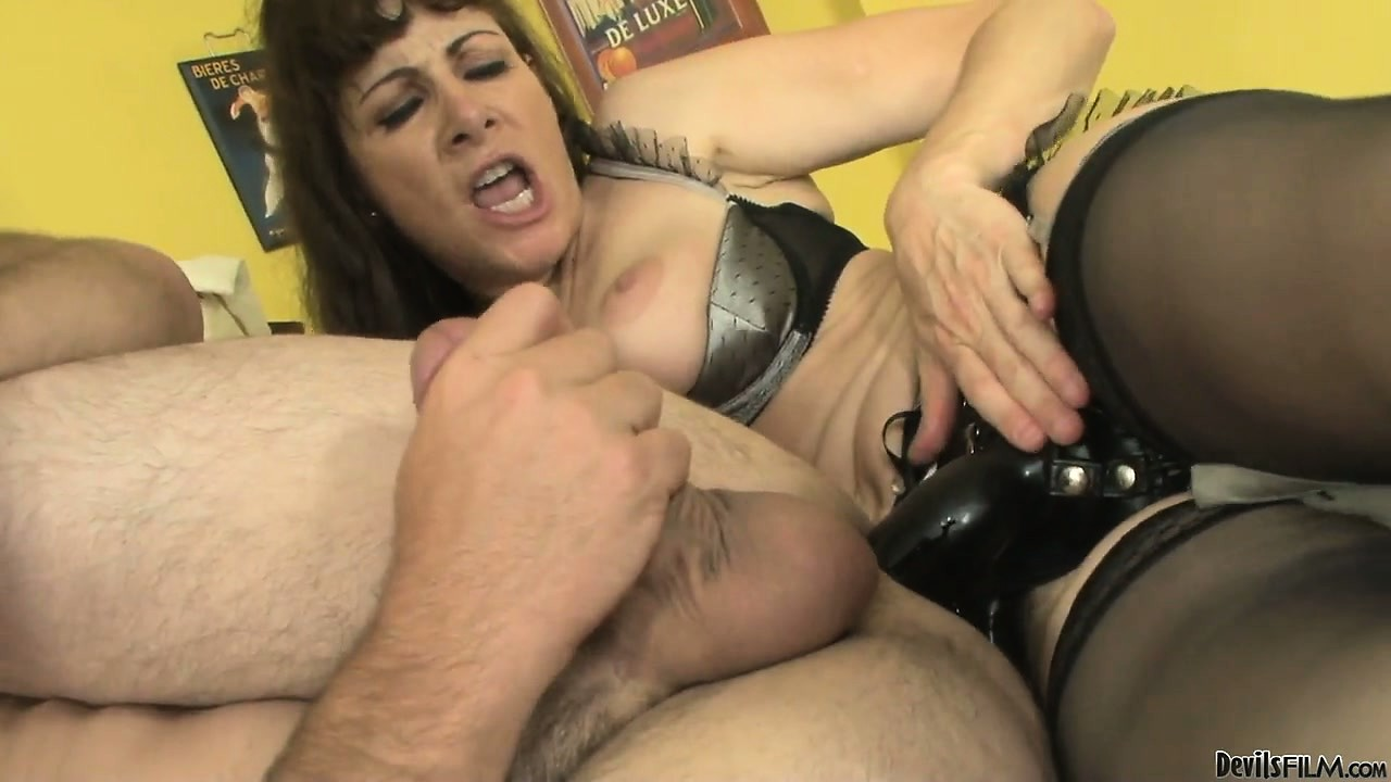 Porno Video of Curious Babe With Big Black Strap-on Inspects The Anal Cavity Of Her Dude
