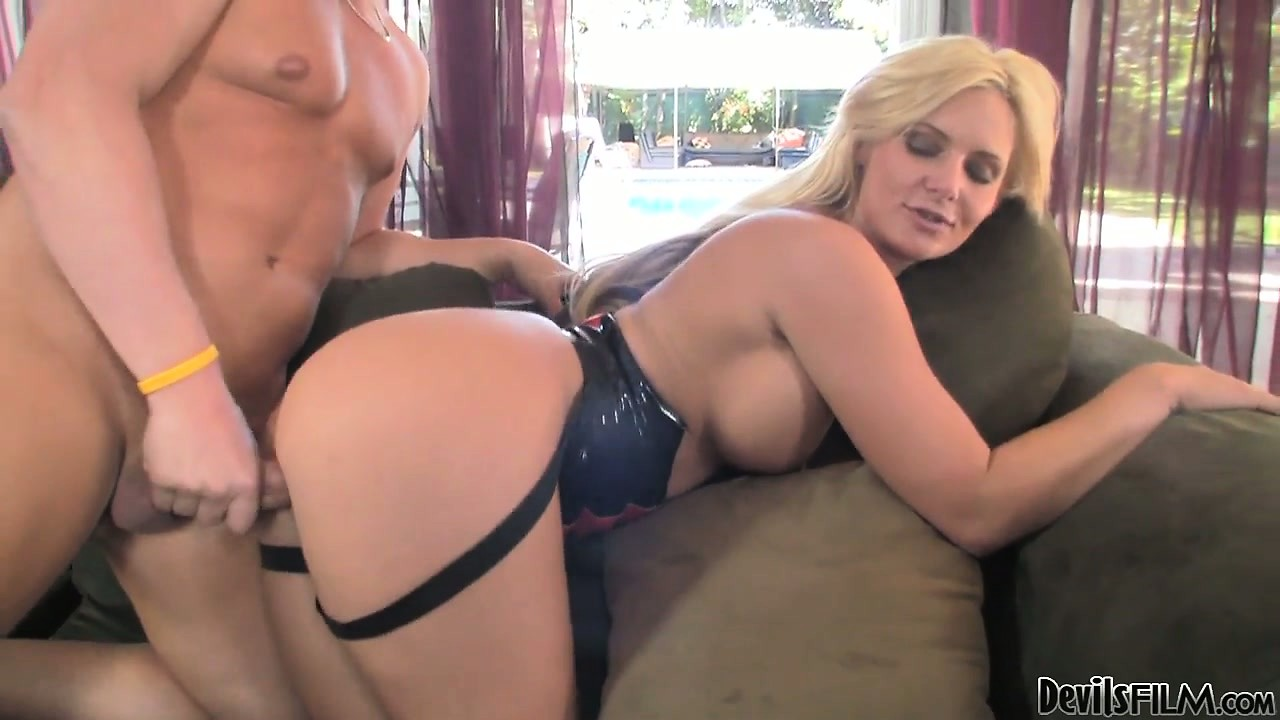 Porn Tube of Blonde Gives Her Man A Stroking While He Rides On Her Strap-on