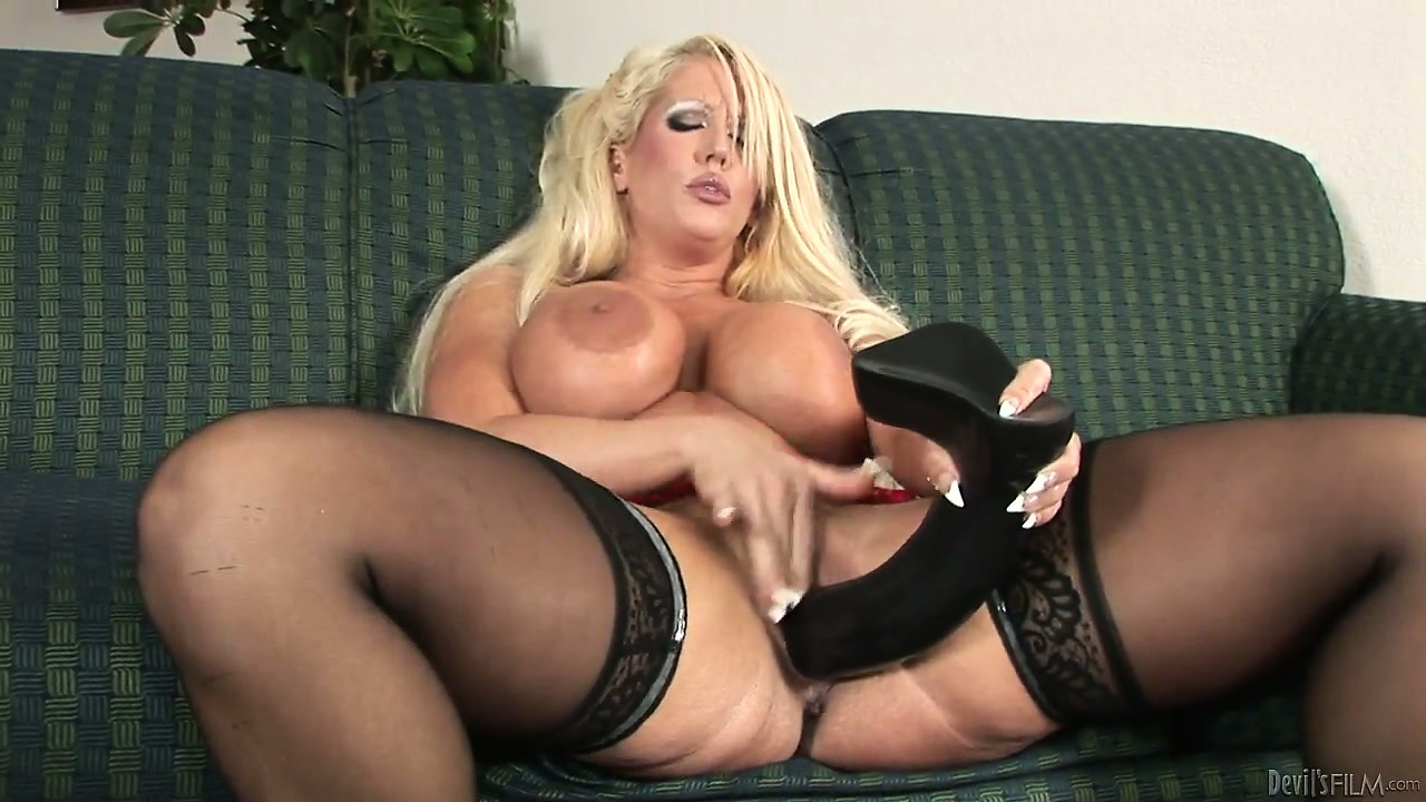 Porno Video of This Blonde Milf Slut Likes All Things Big Including Her Fake Tits And Sex Toys
