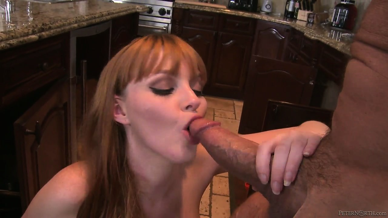 Porn Tube of Sexy Redhead Meets Hubby In The Kitchen And They Cook Up Some Hot Sex