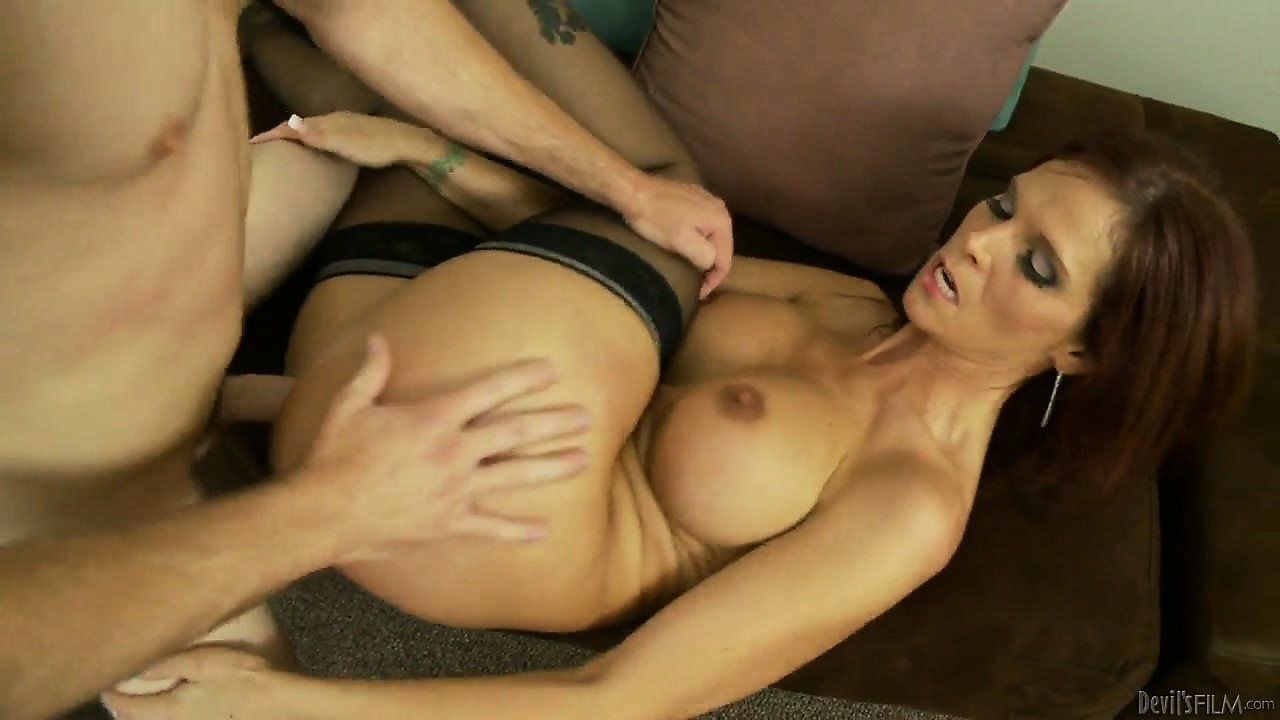 Porno Video of Lying On Her Back On The Sofa, The Horny Milf Gets Her Snatch Pounded Deep