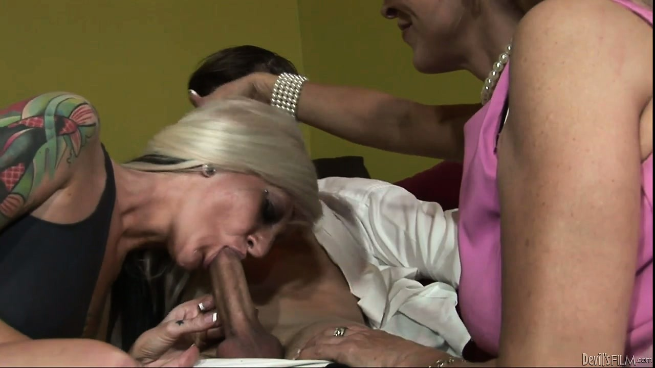 Porn Tube of Hot Platinum Blonde Daughter Wants Mommy To Show Her How To Suck Cock
