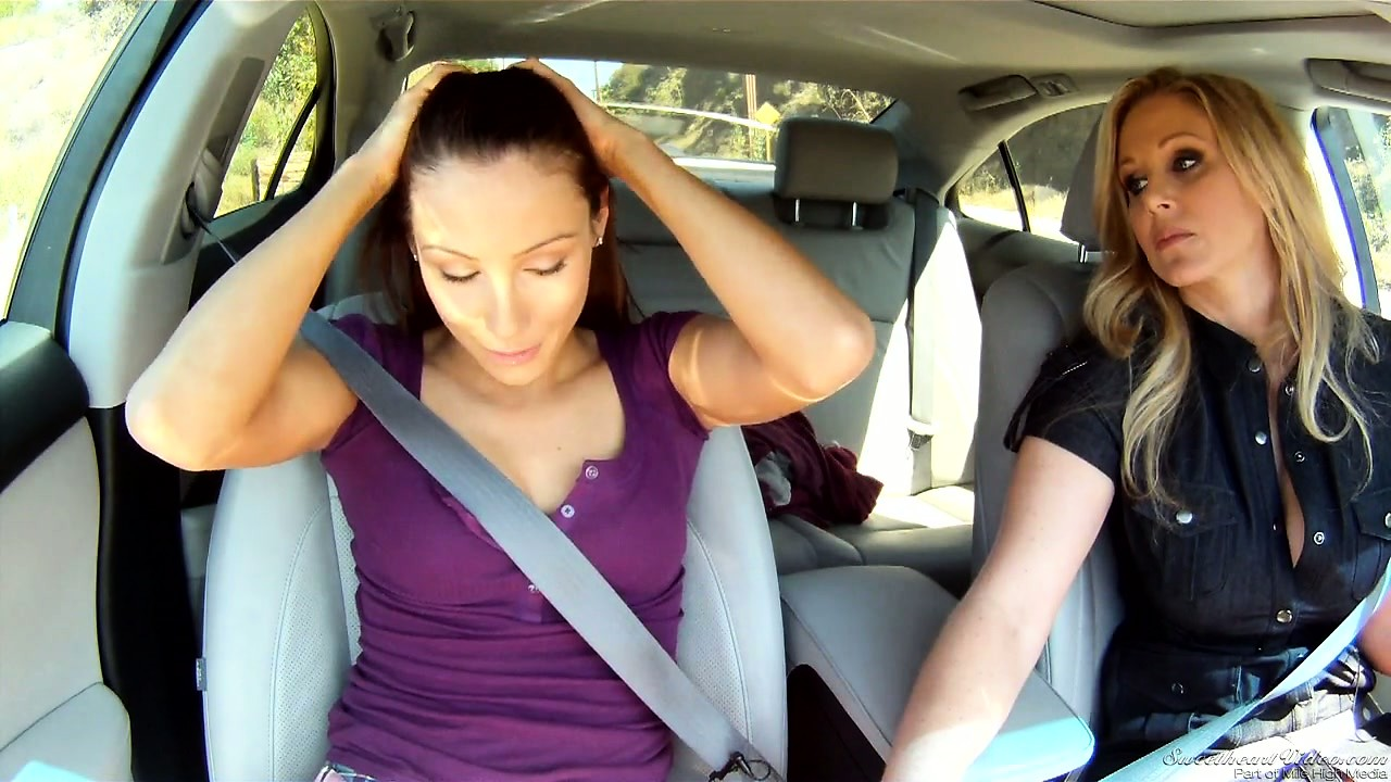 Porno Video of Two Young Lesbians Park Their Car To Have Sex In The Backseat