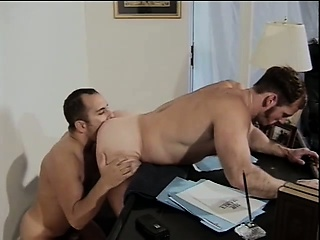horny gay politician sucks a big dick and takes it deep in his anal hole