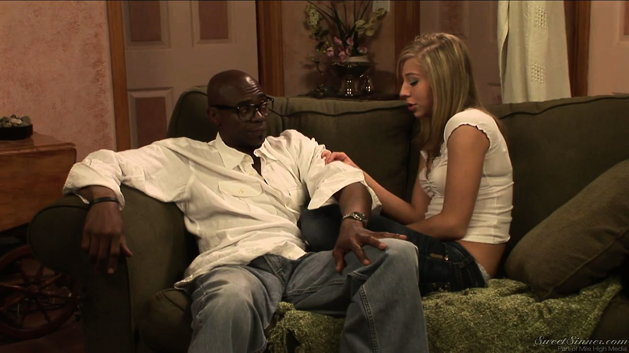 Porn Tube of Cheating Blonde Bitch Meets With Her Black Lover And He Fondles