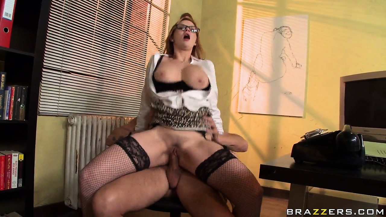 Porn Tube of Naughty Redheaded Secretary Won't Be Sick Anymore By The Time The Horny Boss Gets Done