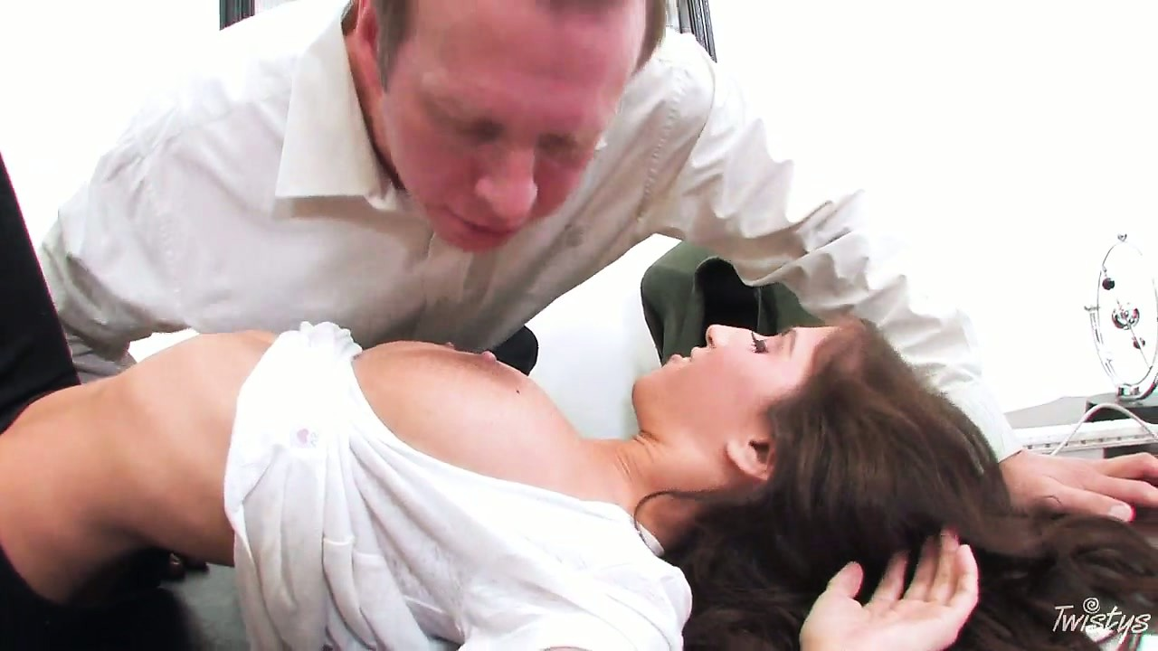 Porno Video of April, A Gorgeous Brunette Sees Her Job Interview Turn Into Something Special