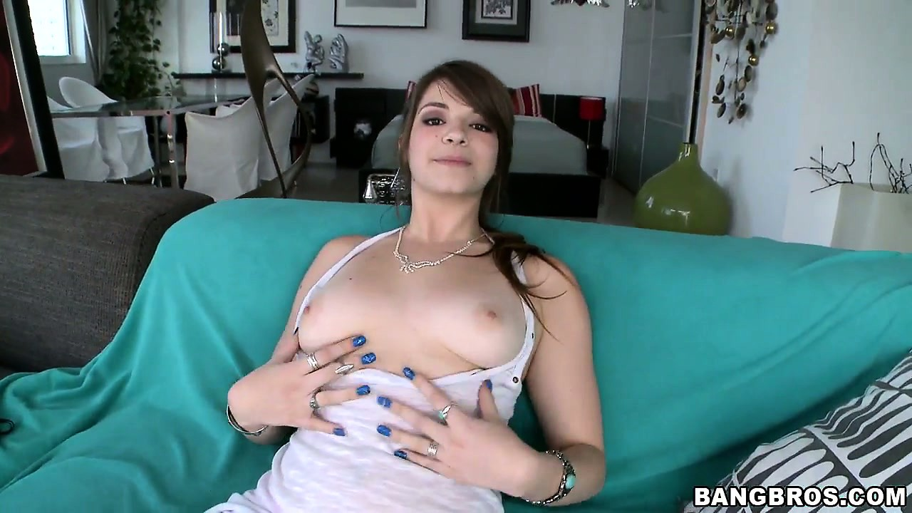 Porn Tube of 18 Year Old Brunette Cutie Bares Her Perky Tits And Nice Ass