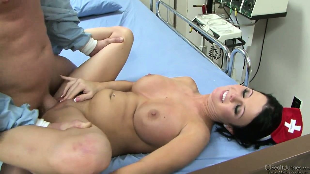 Porno Video of Busty Brunette Nurse Gives Her Patient Hope By Fucking Him Better