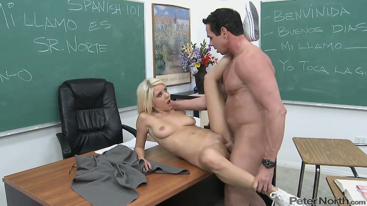 Porn Tube of Naughty Blonde Teen Spreads Her Legs For The Teacher To Lick And Fuck Her