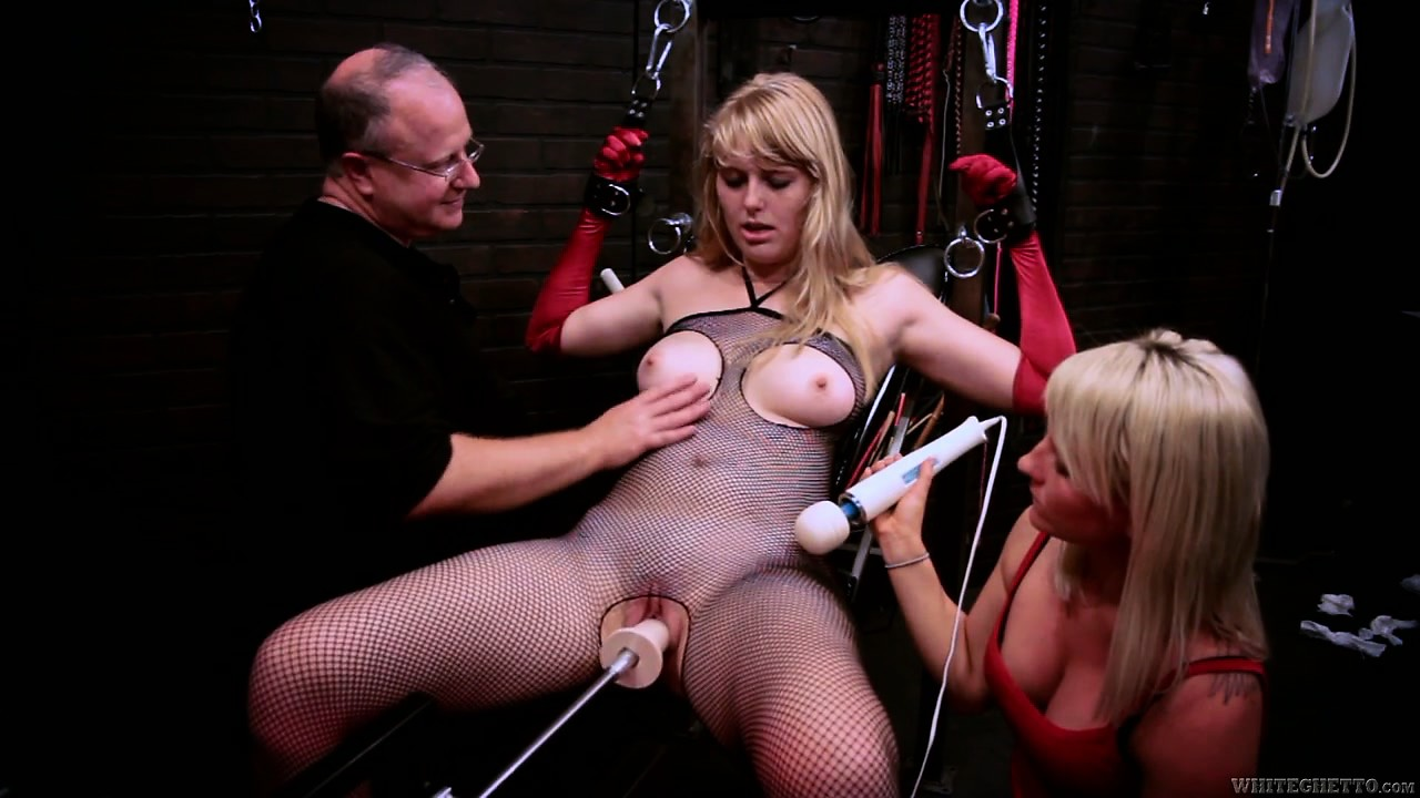 Porno Video of Another Blonde Helps Out And Gets Hooked Up To A Fuck Machine