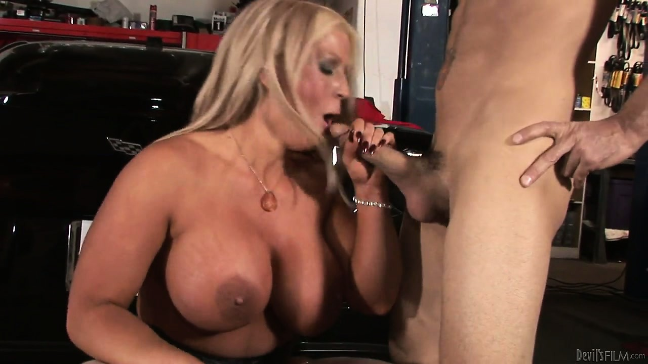Porn Tube of Aafter Giving The Mechanic A Handjob, This Hot Blonde Milf With Huge Hooters Gets Ready To Fuck