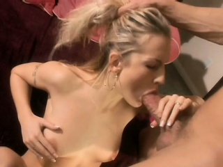 petite blonde with perky tits loves to take a hard stick up her butt